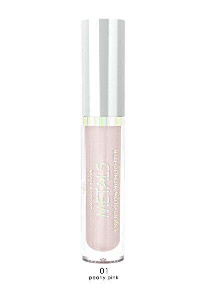 Golden Rose Aydınlatıcı - Metals Metallic Liquid Glow Highlighter No: 01 Pearly Pin 8691190138219