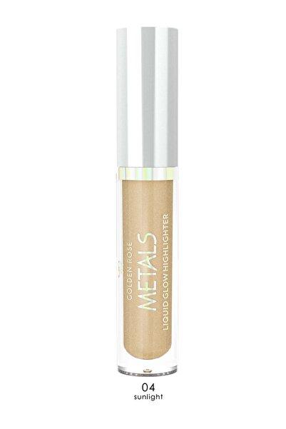Golden Rose Aydınlatıcı - Metals Metallic Liquid Glow Highlighter No: 04 Sunlight 8691190138240