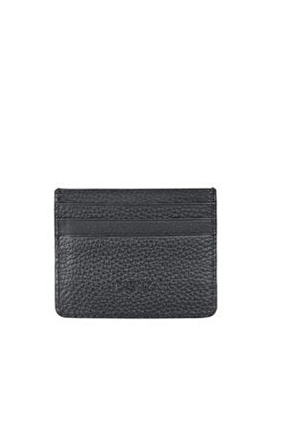 Unisex Hakiki Deri Kartlık Siyah 530