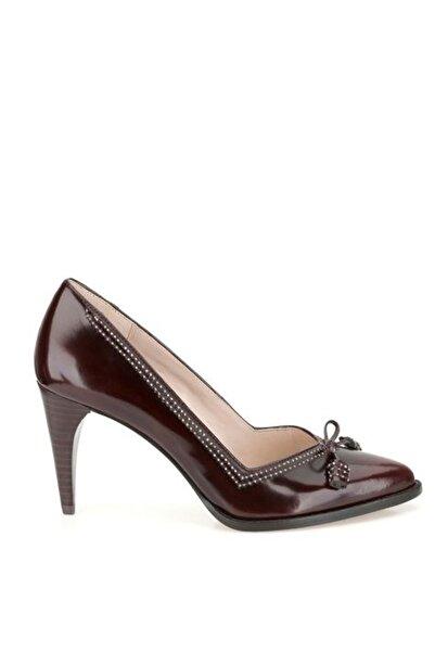 CLARKS Kadın Bordo Deri Deeta Bombay Topuklu Ayakkabı
