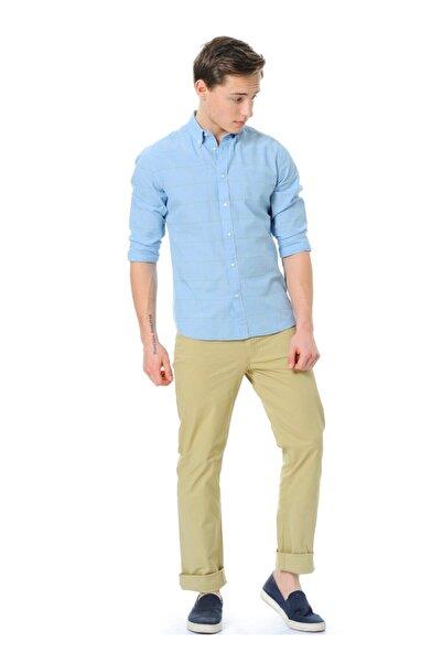 Lee Erkek Krem Keten Pantolon
