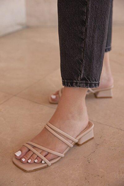STRASWANS Kadın Ten Rengi Fiesta Topuklu Terlik