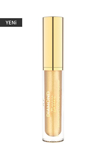 Golden Rose Likit Göz Farı - Diamond Breeze Shimmering Liquid Eyeshadow 01 24K Gold 8691190965624