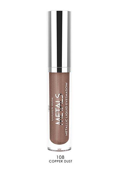 Golden Rose Likit Metalik Göz Farı - Metals Metallic Liquid Eyeshadow No:108 Copper Dust 8691190137588
