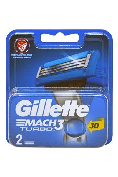 Gillette Mach3 Turbo 2li Yedek Tıraş Bıçağı