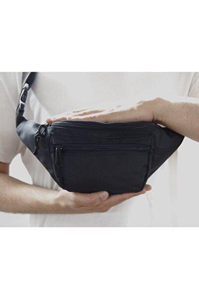 Moda West Unisex Siyah Askılı Çapraz Omuz ve Bel Çantası