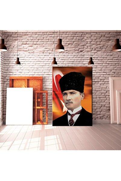 Krafmat Atatürk Canvas Tablo Panoromic 45x140