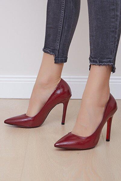 Shoes Time Kadın Kırmızı Topuklu Ayakkabı 19k 212