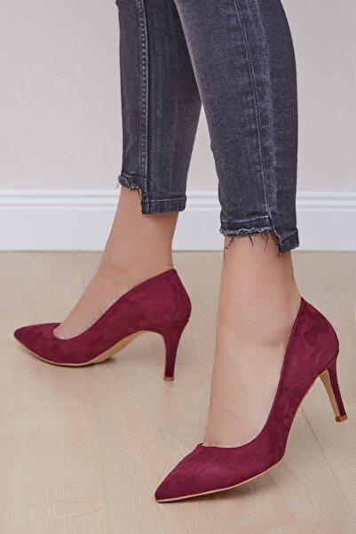 Shoes Time Kadın Bordo Topuklu Ayakkabı 20y 219