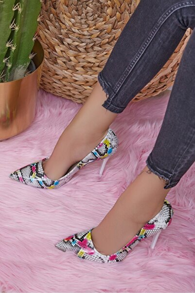 Shoes Time Kadın Beyaz Topuklu Ayakkabı