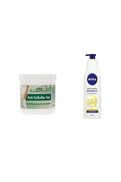 Krauterhof Selülit Karşıtı Jel Anti-cellulite Gel 250 ml ve Nbody Q10 Sıkılaştırıcı Losyon 400 ml