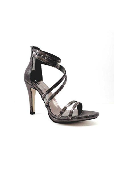 PUNTO 65511z Şeffaf Bantlı Kadın Topuklu Ayakkabı