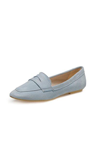 Miss F DS20048 Mavi Kadın Loafer Ayakkabı 100517601