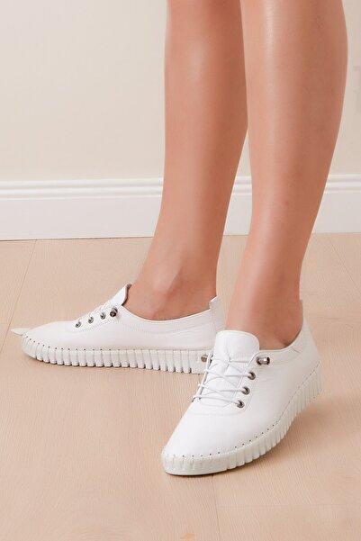 Shoes Time Kadın Beyaz Spor 20y321