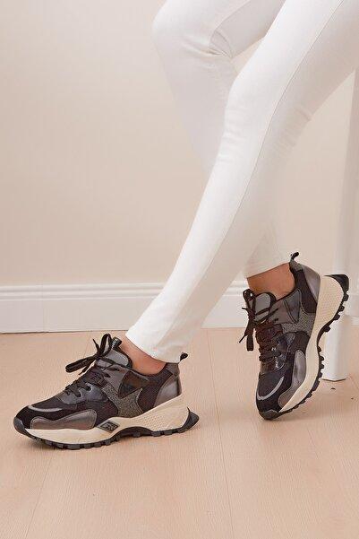 Shoes Time Kadın Siyah Kamuflaj Desenli Spor Ayakkabı 20y 304