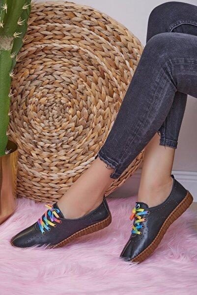 Shoes Time Kadın Siyah Günlük Ayakkabı 20y 107