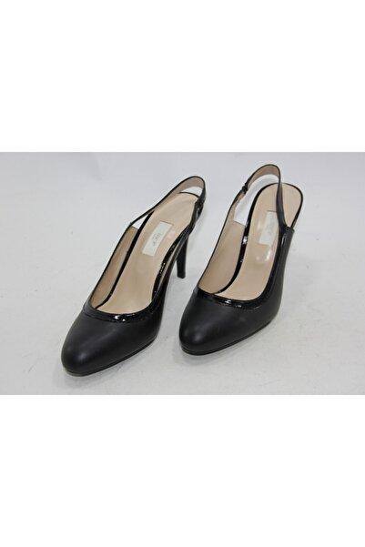 İnci Kadın Siyah İnce Topuk Ayakkabı