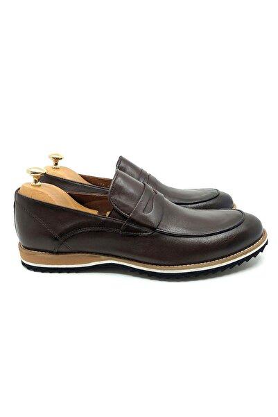 TETRİ Erkek Kahverengi Deri Klasik Ayakkabı