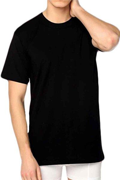 Tutku Erkek Siyah 6'lı Paket Sıfır Yaka Fanila 0105