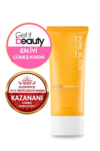 Güneş Kremi - A'PIEU Pure Block Natural Daily Sun Cream SPF45/PA+++ 8809581450615