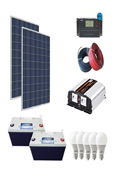 isos enerji 2400 WATT GÜNEŞ ENERJİLİ BUZDOLABI TV VE AYDINLATMA PAKETİ