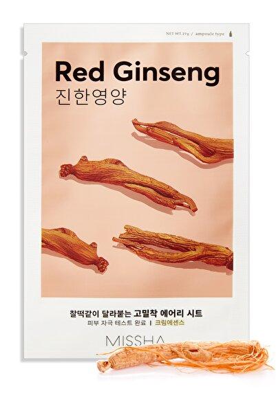 Missha Kırmızı Ginseng İçeren Yaprak Maske - Airy Fit Sheet Mask Red Ginseng 8809581454774