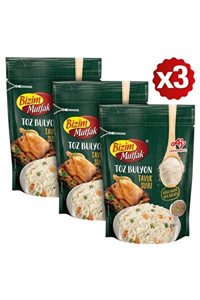 Bizim Mutfak Toz Tavuk Suyu Bulyon 150 Gr 3'Lü Paket
