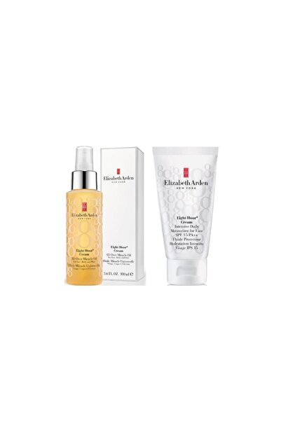 Elizabeth Arden Eight Hour All- Over Oil 100 ml+Yüz Nemlendirici Krem Spf 15 50 ml