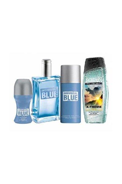 Individual Blue Edt 100 Ml Erkek Parfüm 4 Lü Set