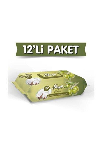 Sleepy Zeytinyağlı Islak Havlu 12 Paket - 1080 Yaprak