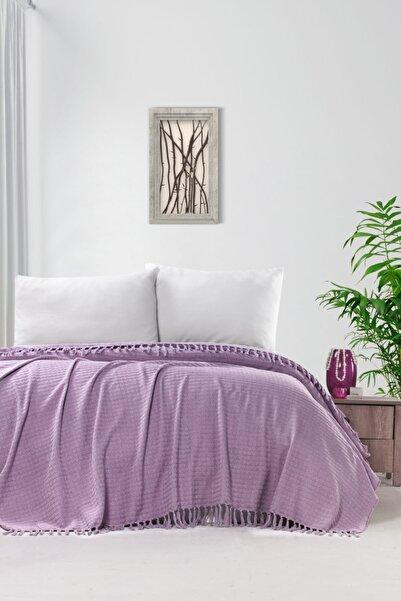 Evim Home Lila İplik Boya Pike Yatak Örtüsü