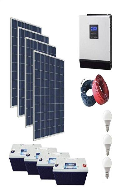 isos enerji 4800 WATT GÜNEŞ ENERJİLİ ÇAMAŞIR MAK. BUZDOLABI TV VE AYDINLATMA PAKETİ