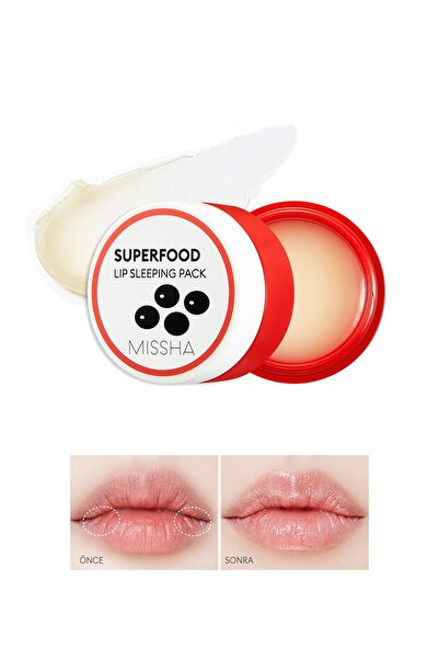 Missha Super Food Black Bean Lip Sleeping Pack