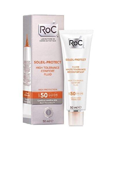 Roc Hassas Ciltler İçin Nemlendirici Krem - Soleil Protect Comfort Fluid Spf 50 50 ml 3574661173559