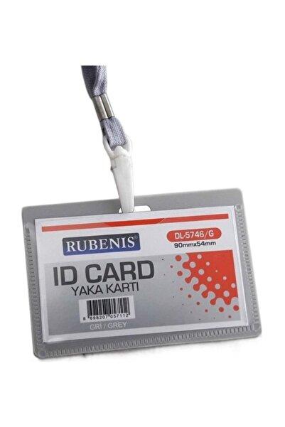 Rubenis İpli Yaka Kartı Gri DL-5746/G