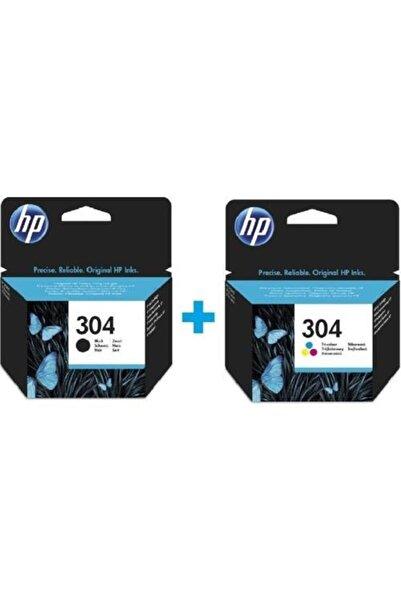 HP 304 Siyah N9K06AE + HP 304 Renkli N9K05AE Orijinal Kartuş Seti