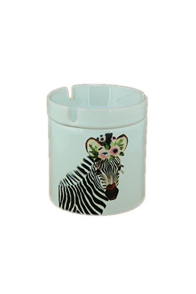 Katarsis Home Seramik Zebra Baskılı Küllük