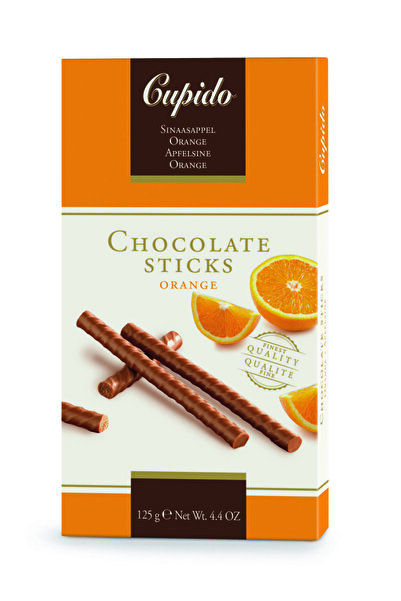 CUPIDO Portakallı çikolata çubukları 125 gr