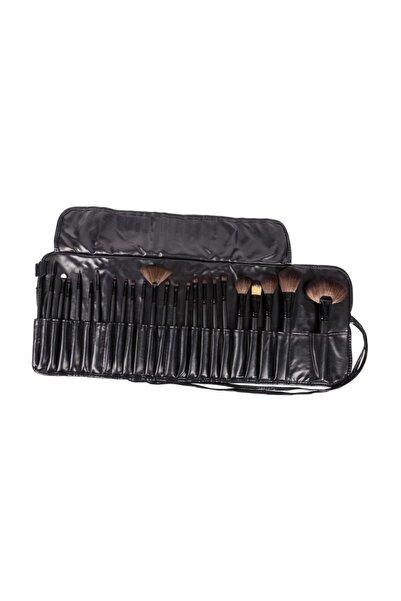 Çantalı Siyah Profesyonel Makyaj Fırça Seti 24 Parça 2170004102388