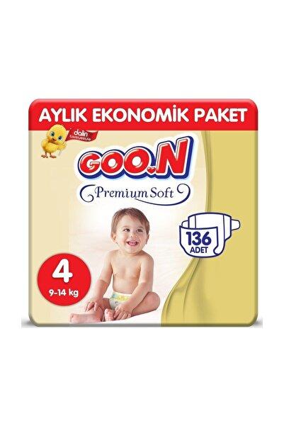Premium Soft Jumbo Paket 4'Lü Set 4 Beden 136 Adet