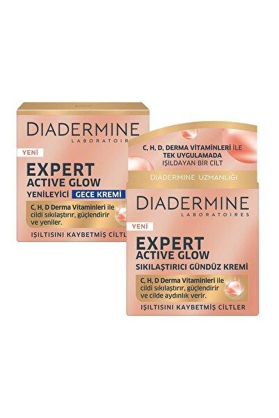 Diadermine Expert Actıve Glow Sıkılaştırıcı Gündüz Kremi  + Gece Kremi