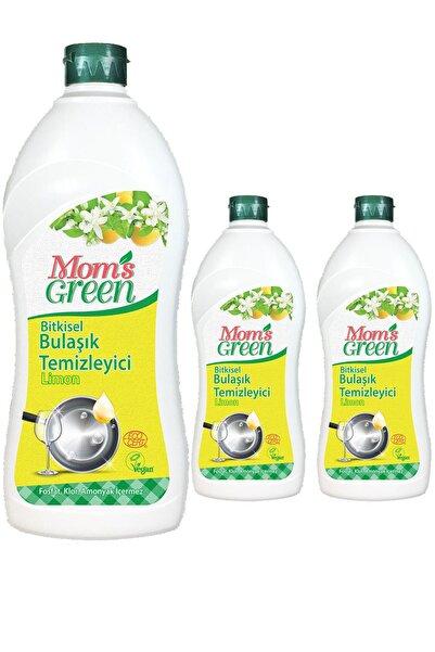 Mom's Green 3'lü Set Mom's Green Bitkisel Elde Bulaşık Deterjanı LİMON - 1 LT