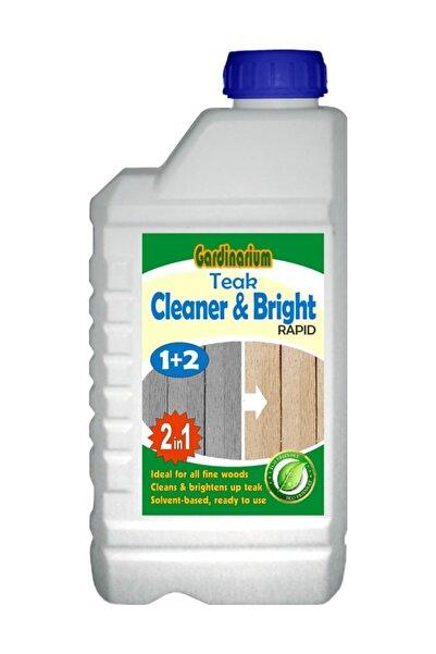 Gardinarium TEAK CLEANER & BRIGHT / RAPID (Kullanıma Hazır Tik Temizleyici ve Parlatıcı) 1 lt