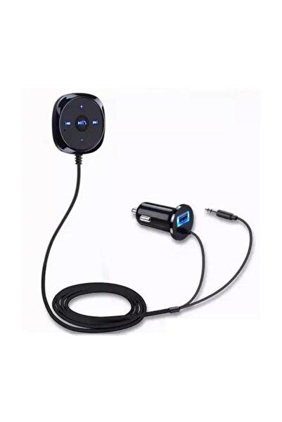 imax Bluetooth Araç Kiti Manyetik Taban Handsfree MP3 Çalar 3.5mm AUX Ses Müzik Alıcısı Adaptörü USB Şarj