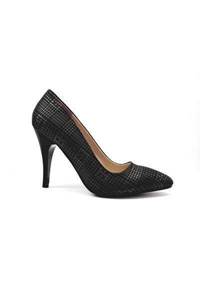PUNTO Kadın Siyah Klasik Topuklu Kadın Stiletto Ayakkabı 462010z