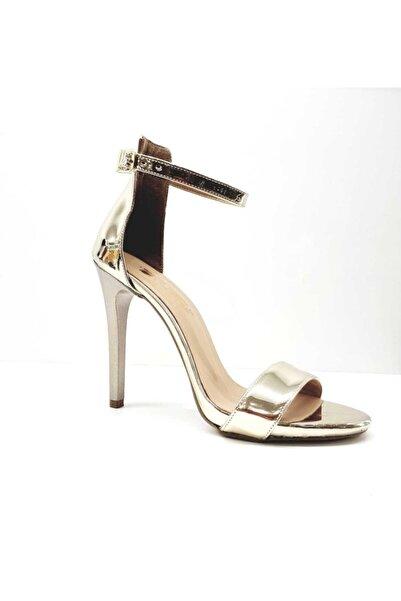 PUNTO Kadın Altın İnce Topuklu Kadın Ayakkabı 448009z