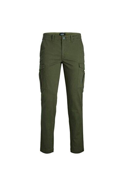 Jack & Jones Erkek Haki Yeşil Kargo Pantolon 12174184