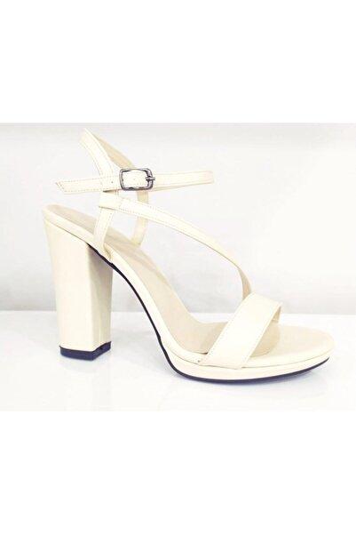 PUNTO Kadın Bej Kalın Topuk Ayakkabı 634128z