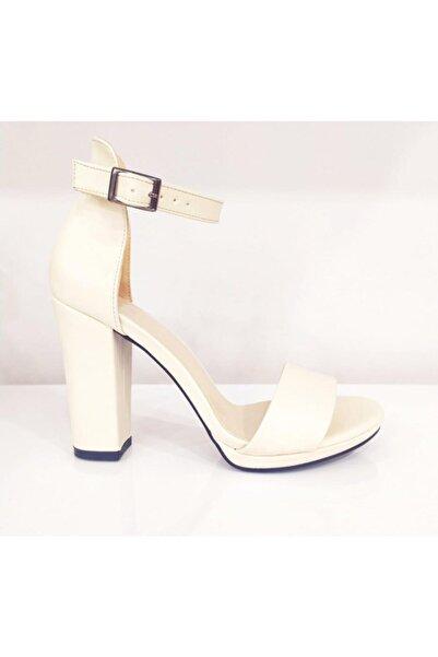 PUNTO Kadın Beyaz Kalın Topuk Ayakkabı 634125z