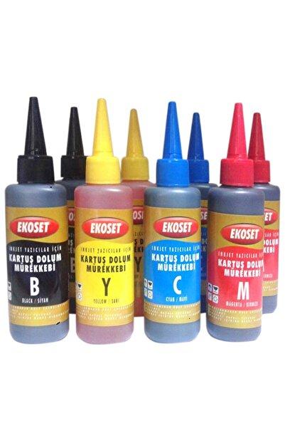 ekoset Epson L382 L386 L455 L486 L550 L565 Uyumlu Mürekkep 4 Renk 200 Ml